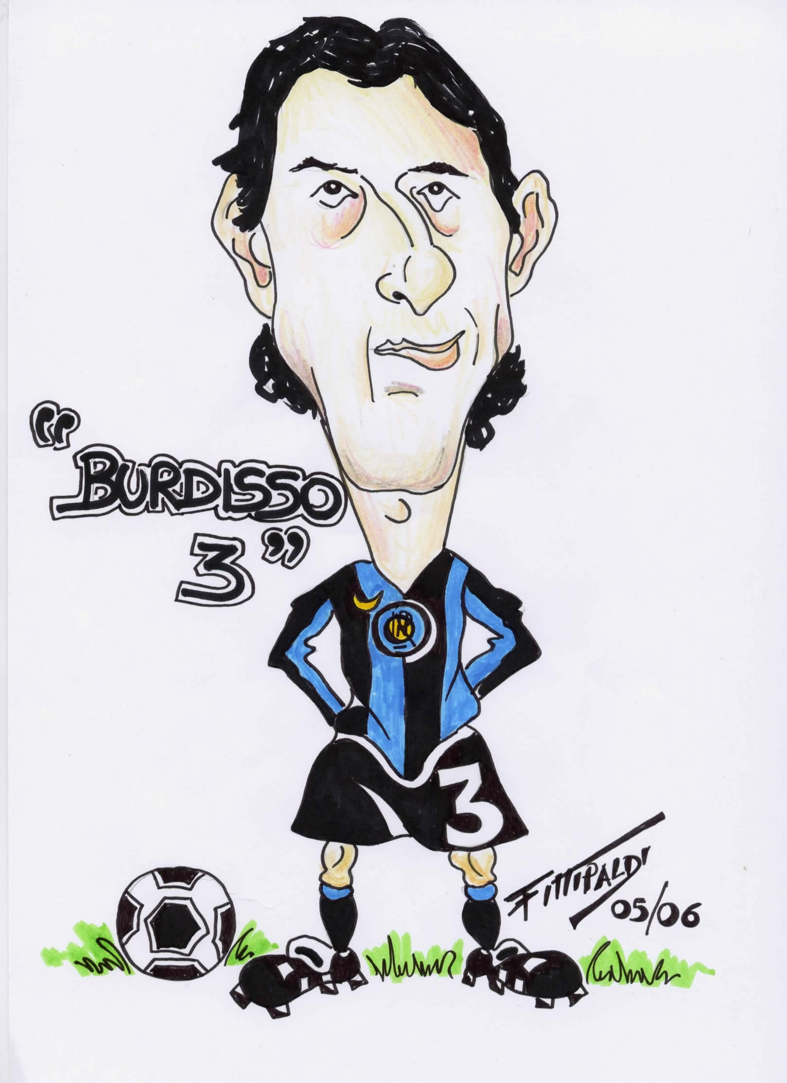 Caricature domenico - Giocatori di calcio da colorare le pagine da colorare ...